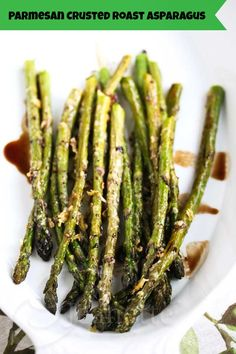 Roasted Asparagus with Parmesan Crust Recipe #sidedish #Easter #Spring #easy #SensationalSides