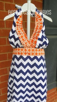 Gameday Maxi Dress Adult Sizes - I will be making this in Auburn and LSU colors for myself.