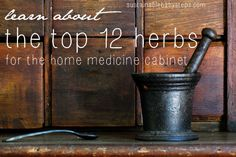 Top 12 Herbs and Their Uses (Stocking Your Herbal Medicine Cabinet) - Sustainable Baby Steps Great list!!