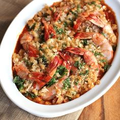 Roasted Shrimp with Feta
