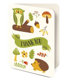 Critters 'Thank You' Note Card and Envelope Set