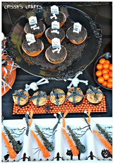 Crissy's Crafts used our giant gumballs, rock candy and Sixlets + some creepy-cool decorations to brew up her amazing Halloween treats table. To die for!
