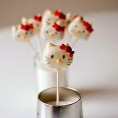 Hello Kitty Cake Pops FTW.