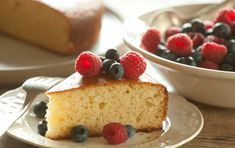 This versatile cake is a snap to make and perfect to serve with a mound of juicy fresh berries on top. Personalize it to your taste by using both almond and vanilla extracts as called for, or use 1 teaspoon of either on its own. For a cake with a hint of lemon, substitute freshly grated lemon zest for the almond extract.
