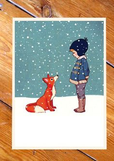 Belle & Boo postkaart - Hello Mr Fox
