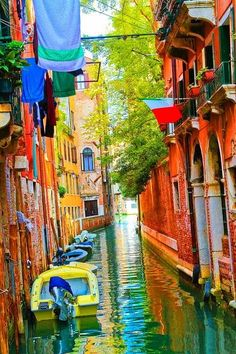 Colorful Canal, Venice, Italy