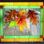 faux painted stained glass window