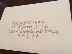 hand addressed envelopes on Etsy