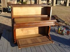 repurposed piano bar | repurpose a piano | Piano Repurpose. Wanted to do this with my parents ...