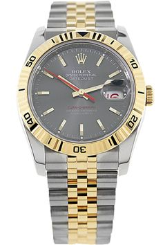 CPO #Rolex 18K Yellow Gold and Steel Turn-O-Graph #vintage #watch #watches
