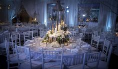 Freed Photography Winter Wedding Centerpieces