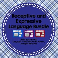 Receptive and Expressive Language Bundle-contains 10 language products at a discounted rate of almost 25%.