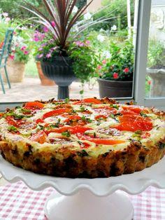 tomato tart with brown rice crust