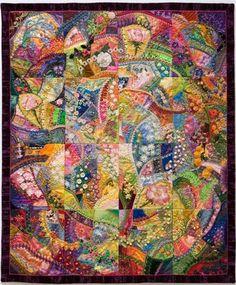 Gorgeous crazy quilt