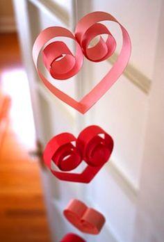 Valentine's Day Hearts Craft. So CUTE~~ ;-) ;-) <3