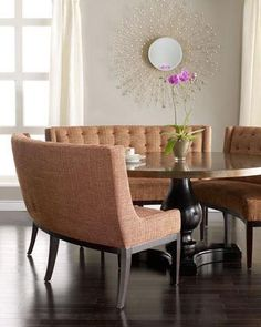 Round table banquette - love love love this.