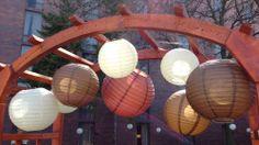 paper lantern, garden arbor