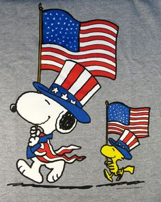 Snoopy & Woodstock | Fourth of July