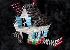 Wizard of Oz house ornament or magnet. $18.00, via Etsy.
