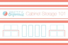 Cabinet Storage 101: Tons of tips for organizing your cabinets & maximizing storage space!  #kitchen #organize