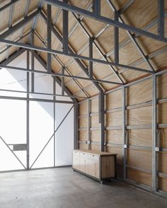 Pre-Fab Garage/Shed.  SO CLEAN. The Shed / Hufft Projects