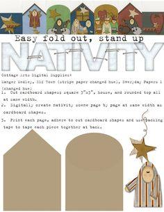 Nativity printable nativ project, nativ printabl, nativ scene, nativity scenes, holiday craft