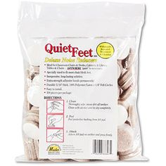 Master Caster Quiet Feet 1.25 Inch  Self-Adhesive Beige Felt Pad Noise Reducers, 100pk