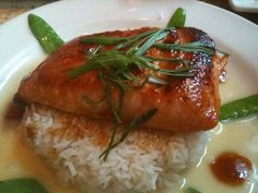 My mouth is already watering... Miso Salmon at the Cheesecake Factory.