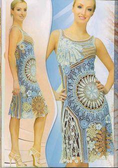 Russian crochet dress.