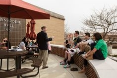 Nothing is better than having your class outside when the weather starts to warm up! #Alvernia
