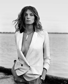 jacket, ethical fashion, style, necklac, white pants, blazers, birds, hair, daria werbowy
