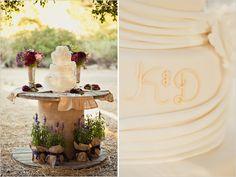 spool cake table!