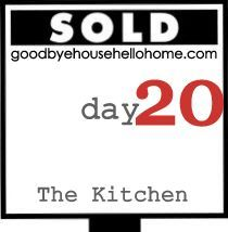 Organizing and decluttering a kitchen to stage it for sale. goodbye, house. Hello, Home! Homemaking, Interior Design Blog, Staging, DIY: 31 Days to a Staged Home :: The Kitchen, Day 20