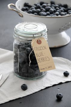 summer fruits, printable labels, late night snacks, tag, jar, food, frozen blueberri, blueberries, healthy desserts