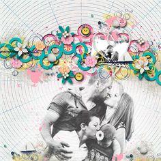 1 photo + photo background + circles
