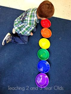Color sorting shapes   Teaching 2 and 3 Year Olds