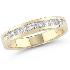 14k Gold Princess-Cut Diamond Anniversary Band (1.00 cttw, H-I Color, I1-I2 Clarity) $1,250.00 (save $1,899.00)