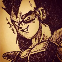 Sketching Raditz. #art #illustration