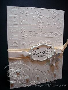 Cuttlebug embossing folder and Stampin Up hardware