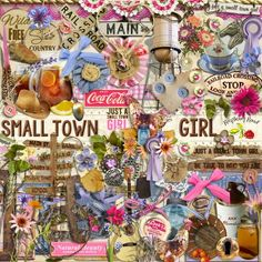 A country themed scrapbook kit named Small Town Girl from Raspberry Road.