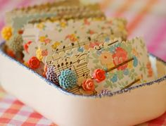 pretty hairclips on even prettier packaging