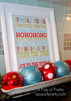 easy Christmas decor for the kitchen