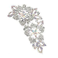Swarovski Crystal Daisy Trailing Bridal Comb - Bridal Jewellery - Crystal Bridal Accessories