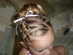 Cute hair for little girls.
