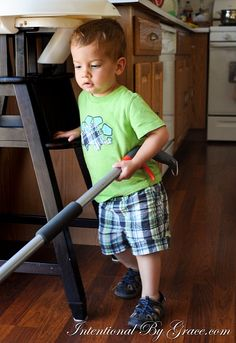 On Including Your 18 Month Old in Your Daily Chores