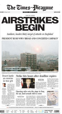 This Is How Newspapers Covered The Start Of The Iraq War Ten Years Ago