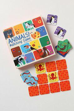 Animals! Matching Game #anthropologie