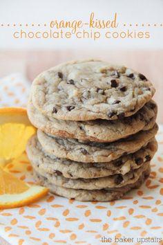 Orange Kissed Chocolate Chip Cookies
