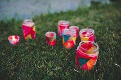 DIY mason jar votives | Photo by Tin Sparrow Studio | Read more - http://www.100layercake.com/blog/?p=72432