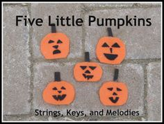 Finger Play Fun Day:  5 Little Pumpkins